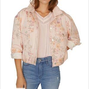 Sanctuary flower denim cropped jacket